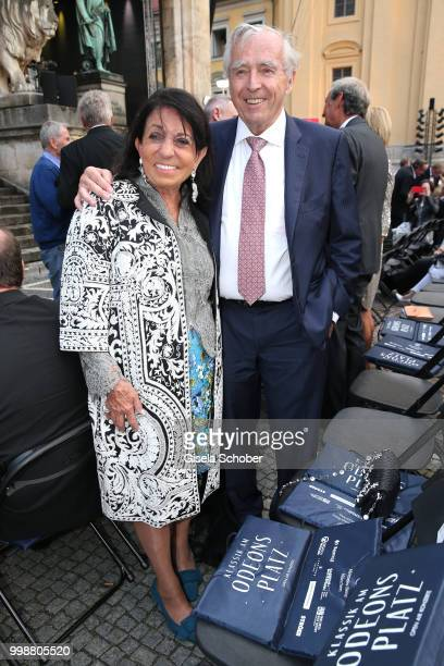 Regine Sixt and her husband Erich Sixt during the MercedesBenz reception at 'Klassik am Odeonsplatz' on July 14 2018 in Munich Germany