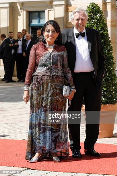 Regine Sixt and her husband Erich Sixt during the opening ceremony of the Bayreuth Festival at Bayreuth Festspielhaus on July 25 2018 in Bayreuth...