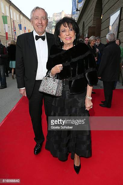 Regine Sixt and her husband Erich Sixt during the opening of the easter festival 2016 'Otello' premiere on March 19 2016 in Salzburg Austria