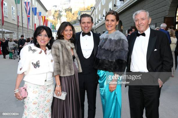 Regine Sixt and her son Konstantin Sixt and his pregnant wife Noni Sixt daughterinlaw Andrea Sixt Erich Sixt during the opening of the Easter...