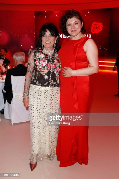 Regine Sixt and Laila Hamidi during the Rosenball charity event at Hotel Intercontinental on May 5 2018 in Berlin Germany