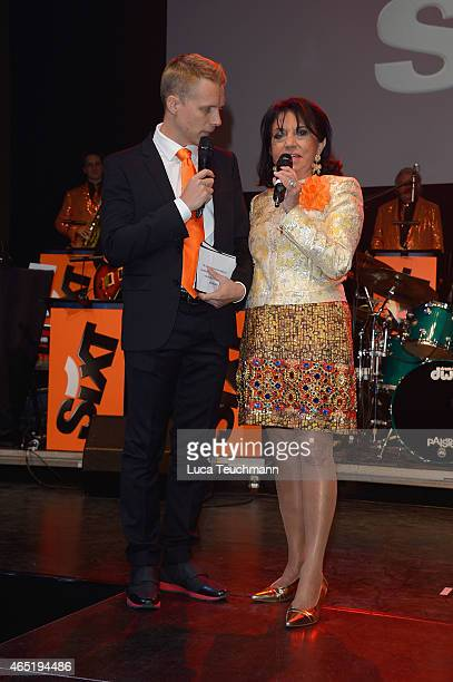 Regine Sixt and Oliver Pocher attend The Night The Winners Meet Party Hosted By Sixt on March 3 2015 in Berlin Germany