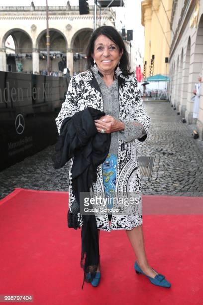 Regine Sixt attends the MercedesBenz reception at 'Klassik am Odeonsplatz' on July 14 2018 in Munich Germany