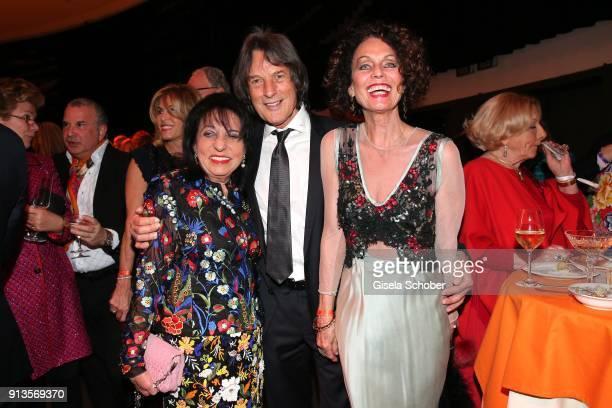 Regine Sixt Dr HansWilhelm MuellerWohlfahrt and his wife Karin MuellerWohlfahrt Karen LaKar during Michael Kaefer's 60th birthday celebration at...