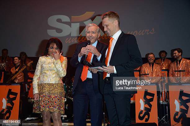Regine Sixt Erich Sixt Oliver Pocher attend The Night The Winners Meet Party Hosted By Sixt on March 3 2015 in Berlin Germany