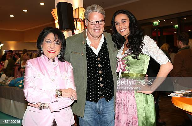 Regine Sixt Heiner Kamps and his wife Ella Kamps during the SIXT fashion dinner at Nockherberg on March 24 2015 in Munich Germany