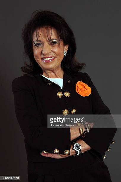 Regine Sixt of Sixt AG poses during a portrait session at the Digital Life Design women conference at Bavarian National Museum on June 30 2011 in...