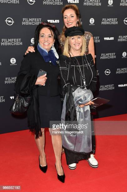 Regine Sixt Patrcia Riekel and director of the Filmfest Munich Diana Iljine during the opening night of the Munich Film Festival 2018 at Mathaeser...