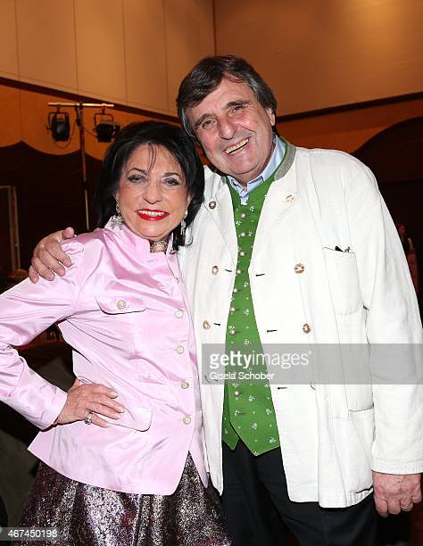 Regine Sixt Peter Prongratz host of Nockherberg during the SIXT fashion dinner at Nockherberg on March 24 2015 in Munich Germany