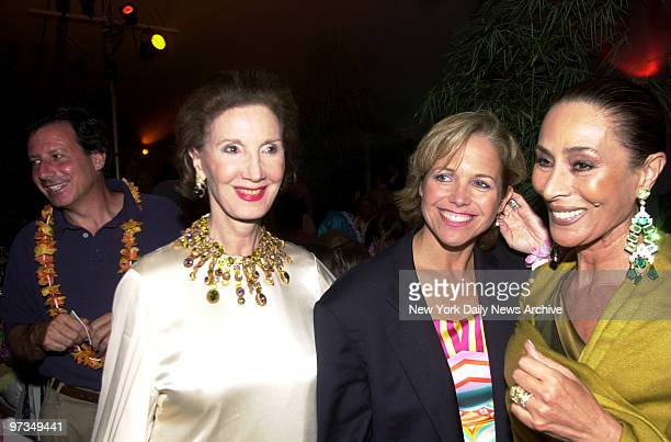 Regine Traulsen Katie Couric and Regine Nahahi get together at the Bow Wow Luau a benefit for the Animal Rescue Fund of the Hamptons in Southampton...