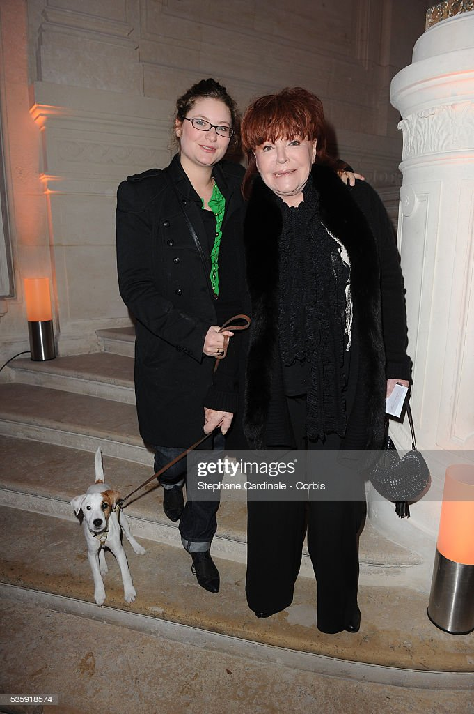 Regine with her granddaughter attend the ' Bal de la Truffe' in Paris.