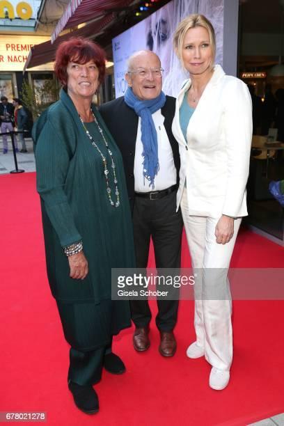 Regine Ziegler, Volker Schloendorff and Veronica Ferres during the premiere of the movie 'Rueckkehr nach Montauk' at City Kino on May 3, 2017 in...