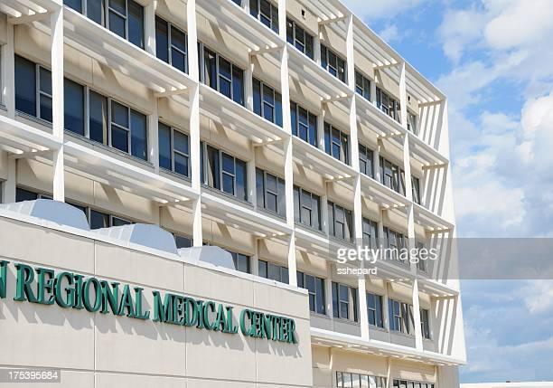 Regional medical center sign on building