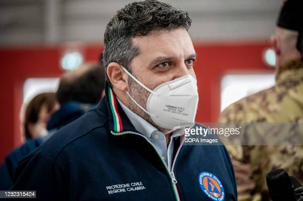 Regional President for the Italian Civil Protection and delegate for the Covid-19 Emergency, Fortunato Varone, at a press release during the...