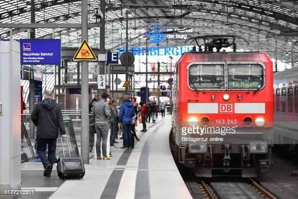 Regional road central station Moabit middle Berlin Germany Regionalbahn Hauptbahnhof Mitte Germany