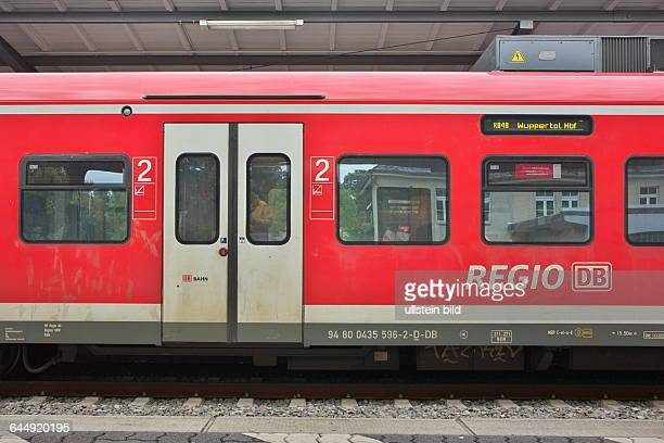 regional train in the station of Bonn Bad Godesberg