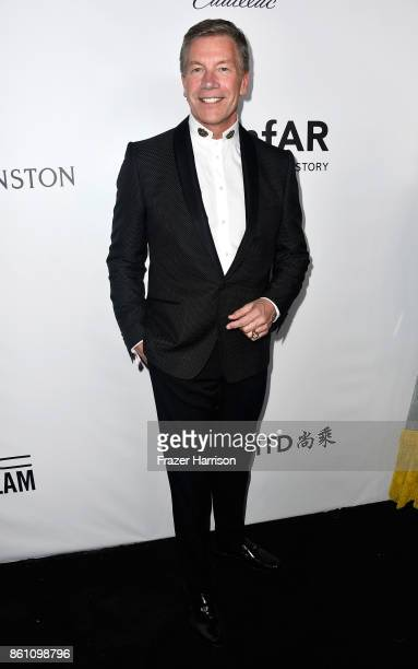 Regional Vice President at Harry Winston Michael Moser attends the amfAR Gala at Ron Burkle's Green Acres Estate on October 13 2017 in Beverly Hills...