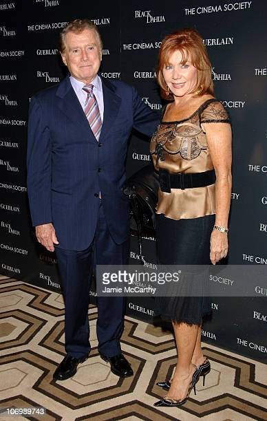Regis and Joy Philbin during The Cinema Society and Guerlain Present a Screening of The Black Dahlia Arrivals at Tribeca Grand Screening Room in New...