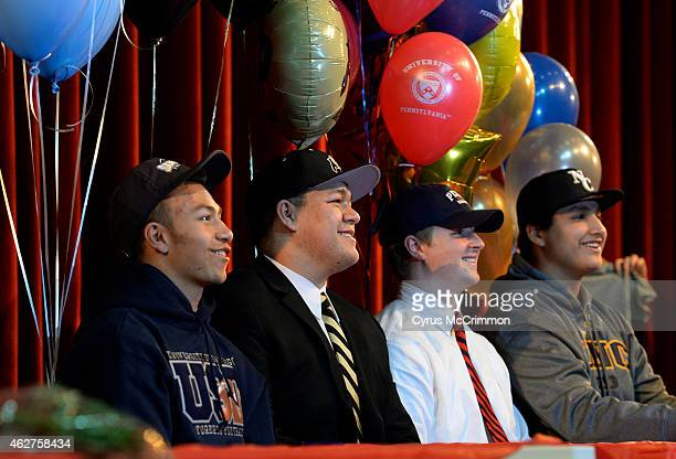 Regis Jesuit High School athletes signed their national letter of intent on Wednesday February 4 2015 in the school auditorium They had 4 football...