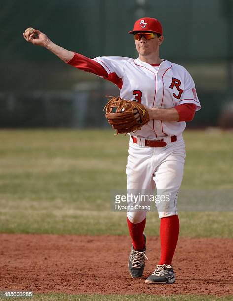 Regis Jesuit senior infielder Max George is in action during the game against Heritage High School at Regis Jesuit High School Aurora Colorado April...