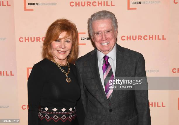 Regis Philbin and his wife Catherine Faylen attend the New York Premiere of 'Churchill' at The Whitby Hotel on May 22 2017 in New York City / AFP...