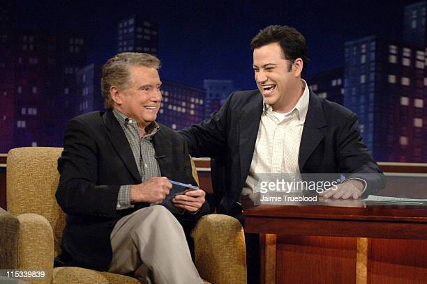 Regis Philbin and Host Jimmy Kimmel on the Jimmy Kimmel Live show on ABC Photo by Jaimie Trueblood/WireImage/ABC