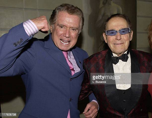 Regis Philbin and Jack LaLanne during Jack LaLanne's 90th Birthday Party at The Pierre Hotel in New York NY United States
