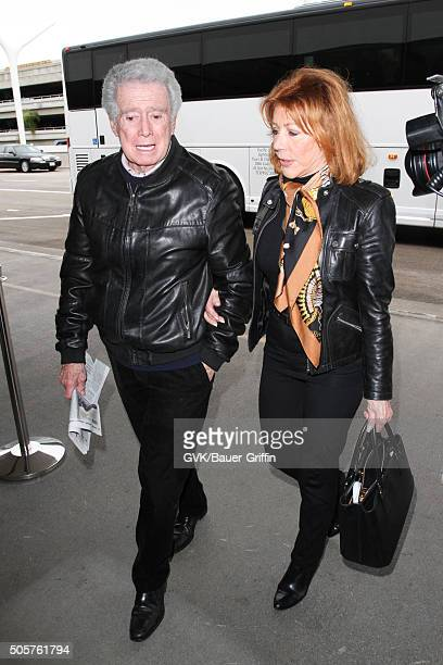 Regis Philbin and Joy Philbin are seen at LAX on January 19 2016 in Los Angeles California