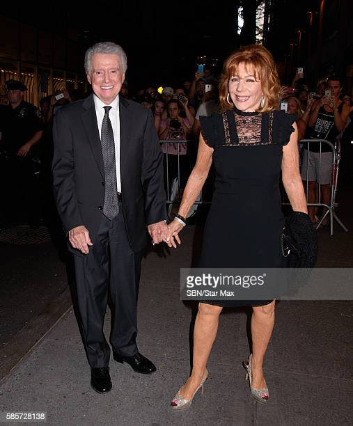 Regis Philbin and Joy Philbin are seen on August 3 2016 in New York City