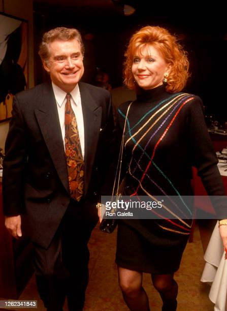 Regis Philbin and Joy Philbin attend First Annual Joan Rivers Oscar Night Party at San Domenico in New York City on March 30 1992