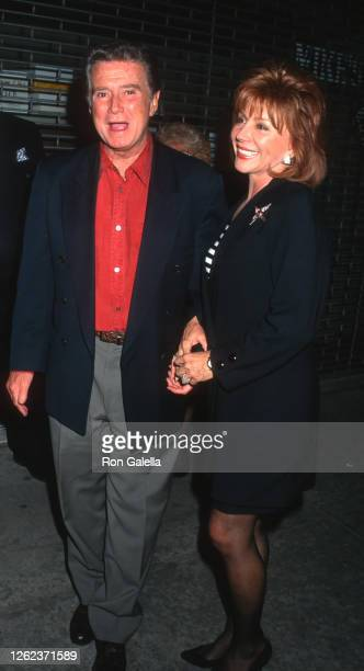 Regis Philbin and Joy Philbin attend Forget Paris Premiere at the Sony Theatre in New York City on May 8 1995