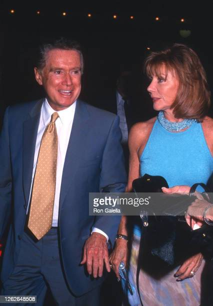 Regis Philbin and Joy Philbin attend Frankie and Johnny in the Clair de Lune Performance Party at Laura Belle in New York City on August 8 2002