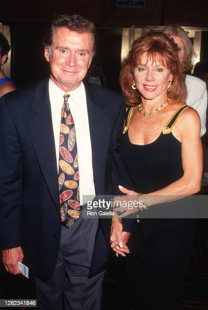Regis Philbin and Joy Philbin attend King Of The Hill Premiere at the Festival Theater in New York City on July 20 1993