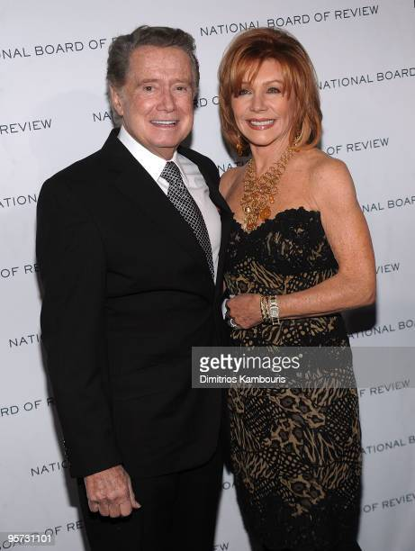 Regis Philbin and Joy Philbin attend the 2010 National Board of Review Awards Gala at Cipriani 42nd Street on January 12 2010 in New York City