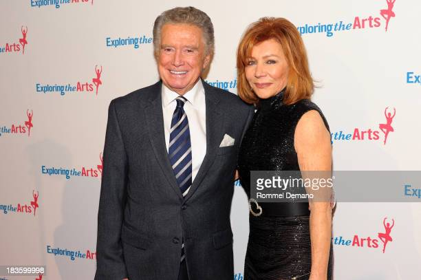 Regis Philbin and Joy Philbin attend the 7th annual Exploring the Arts gala at Cipriani Wall Street on October 7 2013 in New York City