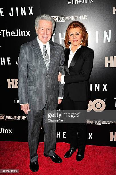 Regis Philbin and Joy Philbin attend 'The Jinx' New York Premiere at Time Warner Center on January 28 2015 in New York City