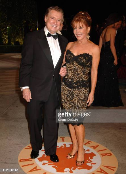 Regis Philbin and Joy Philbin during 2007 Vanity Fair Oscar Party Hosted by Graydon Carter Arrivals at Mortons in West Hollywood California United...