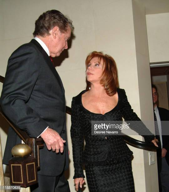 Regis Philbin and Joy Philbin during Donald Trump Hosts the Opening Night Reception of 'Veranda New York's Best at Trump Park Avenue The Ultimate...