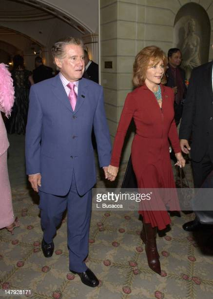 Regis Philbin and Joy Philbin during Jack LaLanne's 90th Birthday Party at The Pierre Hotel in New York NY United States