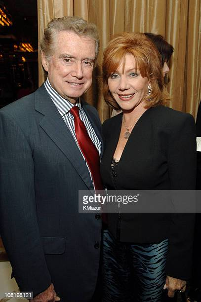 Regis Philbin and Joy Philbin during Jerry Seinfeld and Jessica Seinfeld Host Dinner for Ed Broth Author of Stories from a Moron at Cafe Gray in New...