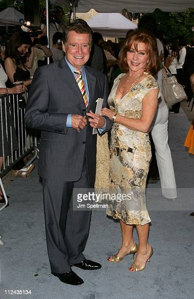 Regis Philbin and Joy Philbin during The Cinema Society Donna Karan Host the NY Premiere of Evening Outside Arrivals at Chelsea Clearview West in New...