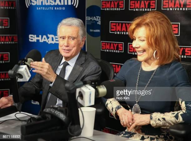 Regis Philbin and Joy Philbin visit 'Sway in the Morning' at SiriusXM Studios on October 3 2017 in New York City