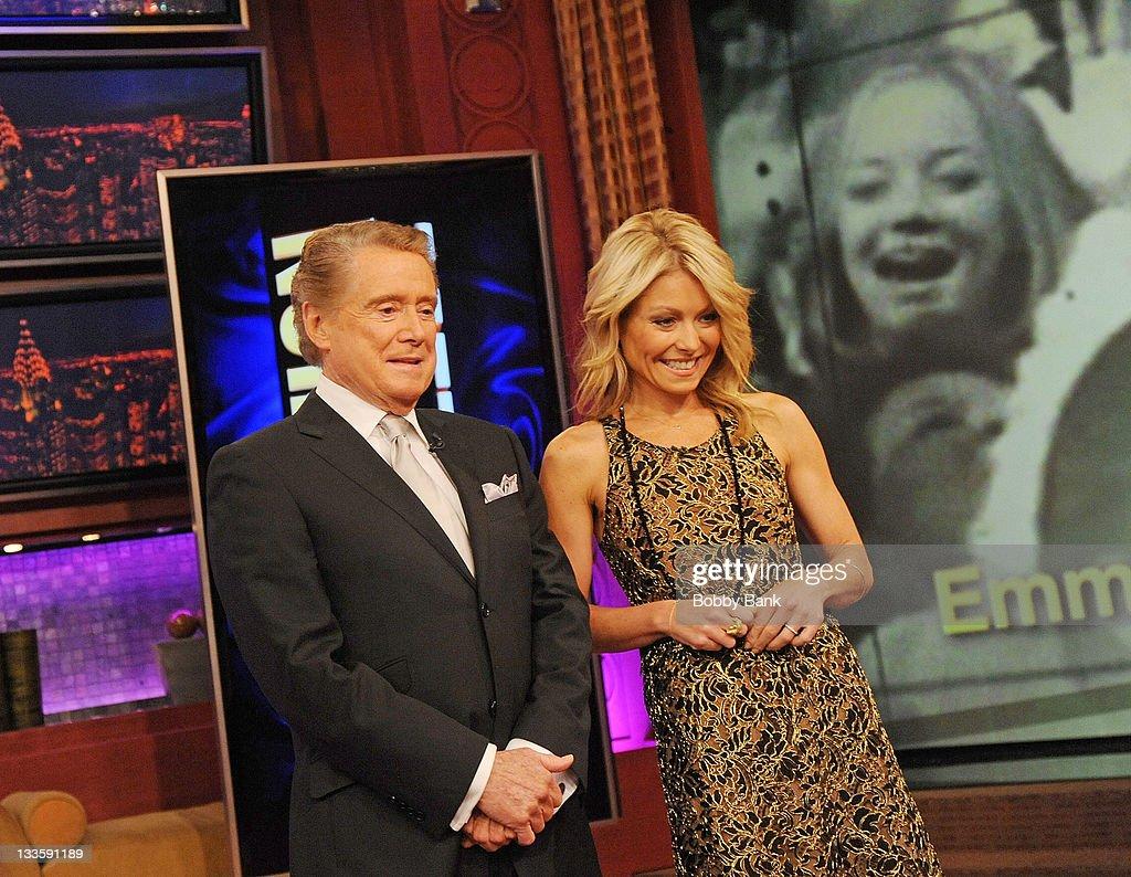 Regis Philbin and Kelly Ripa attend Regis Philbin's Final Show of ...