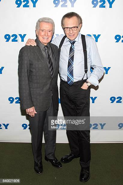 Regis Philbin and Larry King attend Larry King In Conversation With Regis Philbin at 92nd Street Y on June 13 2016 in New York City