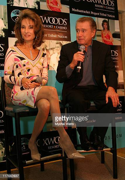 Regis Philbin and Susan Lucci during Regis Phjlbin and Susan Lucci Officially Open the Wampum Rewards Mega Store at Foxwoods Resort Casino in...