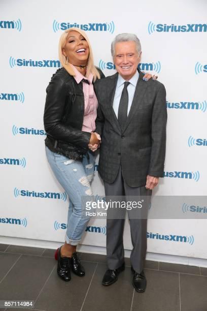 Regis Philbin and Tamar Braxton visit at SiriusXM Studios on October 3 2017 in New York City
