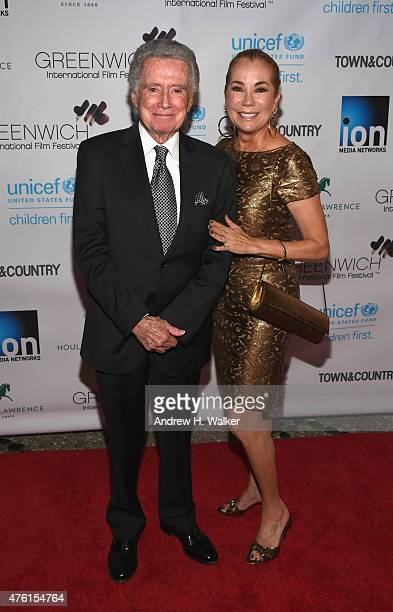 Regis Philbin and television host Kathie Lee Gifford attend Greenwich Film Festival 2015 Changemaker Honoree Gala at L'Escale Restaurant on June 6...