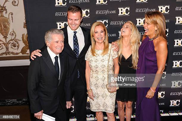 Regis Philbin Cory Newton Gifford Kathie Lee Giffod Cassidy Erin Gifford and Hoda Kotb attends Broadcasting and Cable Hall Of Fame Awards 25th...