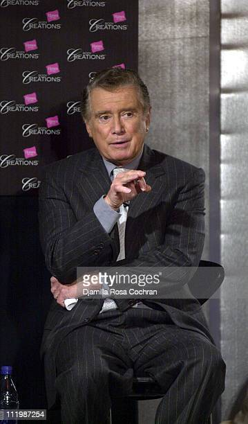 Regis Philbin during Regis Philbin and Elisabeth Hasselbeck Host Hanes Her Way Body Creations Intimates Collection A New Lingerie Line That Won't...