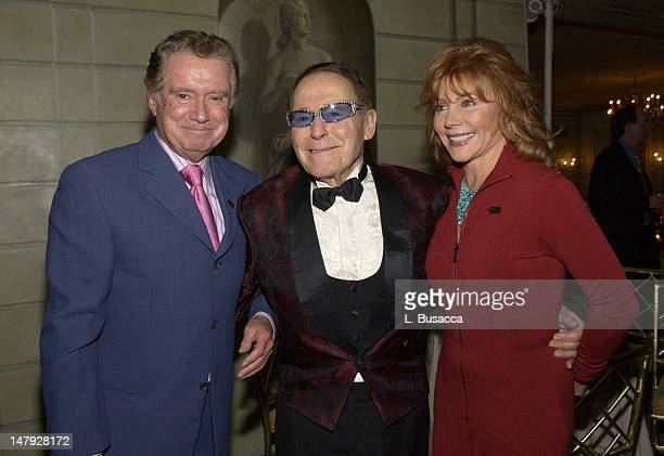 Regis Philbin Jack LaLanne and Joy Philbin during Jack LaLanne's 90th Birthday Party at The Pierre Hotel in New York NY United States